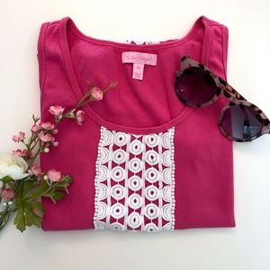 Lilly Pulitzer Pink and White Tank Top